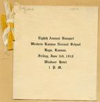 Eight Annual Banquet of the Western Kansas Normal School Program