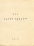1912 Forum Banquet Program