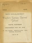 Tenth Annual Banquet of Western Kansas Normal School Program