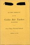 1915 Alumni Banquet of the Golden Belt Teachers of Fort Hays Normal School Program