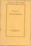 Calendar of Art Lovers Club Program