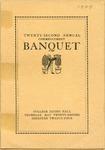 Twenty-second Annual Commencement Banquet Program