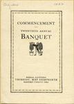Twentieth Annual Commencement Banquet Program