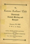 The Kansas Authors' Club Nineteenth Annual Meeting and Banquet Program
