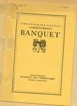 Twenty-third Annual Commencement Banquet Program
