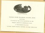Kansas State Teachers College 1926 Reception Program