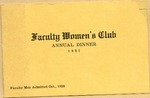Annual Dinner of Faculty Women's Club Program