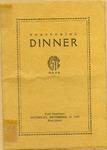 Homecoming Dinner of Kansas State Teachers College Program