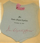 An Invitation Card from Dean Elizabeth J. Agnew in Theta Sigma Upsilon