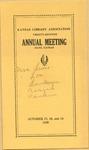 Twenty-seventh Annual Meeting of Kansas Library Association Program