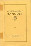 Commencement Banquet of Kansas State Teachers College Program