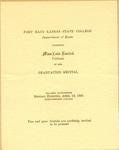 Miss Lois Rarick's Violin Show of Fort Hays Kansas State College Program
