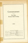 Commencement of Fort Hays Kansas State College Program