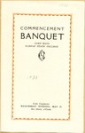Commencement Banquet of Fort Hays Kansas State College Program