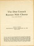 The Don Cossack Russian Male Chorus Program