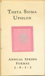 Annual Spring Formal Theta Sigma Upsilon of Fort Hays Kansas State College Program