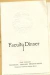 Faculty Dinner of Fort Hays Kansas State College Program