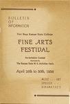 Fine Arts Festival of Fort Hays Kansas State College Program
