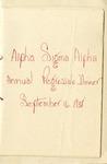 Alpha Sigma Alpha Annual Progressive Dinner Program