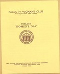 Faculty Women's Club of Fort Hays Kansas State College Program