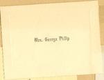 Invitation Card for Mrs. Geoge Philip