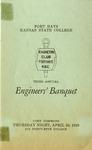 Third Annual Engineers' Banquet  of Fort Hays Kansas State College Program