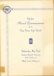 First Annual Commencement of the High Senior High School Program