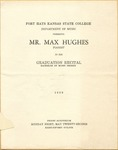 Mr. Max Hughes's Piano Show in His Graduation Recital Program