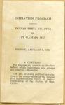 Initiation Program of Kansas Theta Chapter of PI GAMMA MU