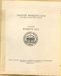 Women's Day of Faculty Woman's Club Program