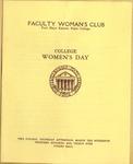 College Women's Day of Faculty Women's Club Program