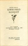 Second Annual Lewis Field Banquet Program