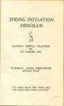 Spring Initiation Program of Kansas Theta Chapter of Pi Gamma Mu