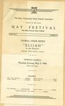 Twenty-second Annual May Festival of the Hays Community Music Festival Association Program-Page 1