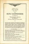 """Ruth Chorpennong in a Program of """"Characterizations--Humorous and Otherwise """" of Fort Hays Kansas State College Program"""