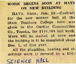 Newspaper: Work Begins Soon at Hays on New Building