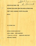 Specifications for Science Building Addition and Alterations by John E. Brink and T. Marion Heter