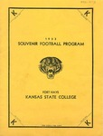 1933 Souvenir Football Program by Fort Hays Kansas State College