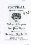 College of Emporia vs. Fort Hays Tigers football program by Fort Hays Kansas State College