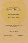 Hastings College vs. Fort Hays State football program by Fort Hays Kansas State College