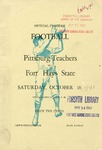 Pittsburg Teachers vs. Fort Hays State football program by Fort Hays Kansas State College