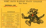 1949 Fort Hays Kansas State College football brochure