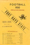 1950 Fort Hays Kansas State College football brochure