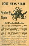 Fort Hays State Fighting Tigers 1956 Football Schedule by Fort Hays Kansas State College
