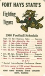 Fort Hays State's Fighting Tigers 1960 Football Schedule