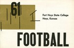 1961 Fort Hays Kansas State College football brochure