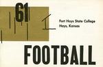 1961 Fort Hays Kansas State College football brochure