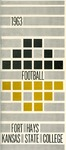 1963 Fort Hays Kansas State College football brochure by Fort Hays Kansas State College