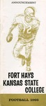 1966 Fort Hays Kansas State College football brochure by Fort Hays Kansas State College