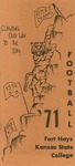 1971 Fort Hays Kansas State College football brochure by Fort Hays Kansas State College